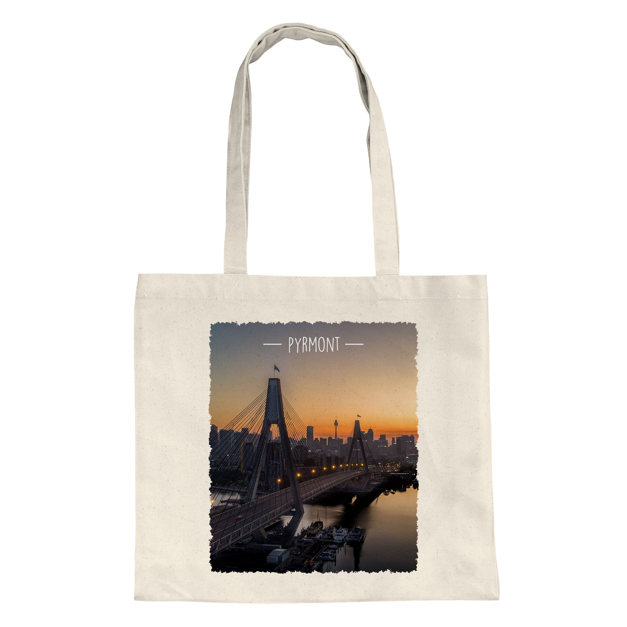 tote-shopping-bag-sunrise-anzac-bridge-pyrmont